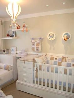 Changing table next to crib