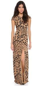 Cap Sleeve Leopard Print Gown!!!