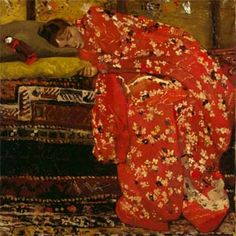 Vuillard Beautiful texture and pattern. George Breitner, The name of the model is Geesje Kwak.