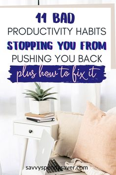 Some of these bad productivity habits are not that obvious how to be productive| how to be productive when not motivated| how to be productive at home| how to be productive at work| how to be productive in the morning|how to be productive everyday| Get Your Life, Organize Your Life, Succesful People, Habits Of Successful People, Time Management Tips, Self Improvement Tips, Life Organization, Comfort Zone, Getting Things Done