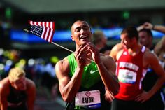 """UCAN BREAK RECORDS! A Runner Becomes Greatest Athlete - Ashton Eaton breaks the World Record in the decathlon Saturday afternoon at the U.S. Olympic Track and Field Trials in Eugene, Oregon, becoming at age 24, the so-called """"greatest athlete in the world."""" Who is excited for the Olympics? We sure are. Way to go team USA."""