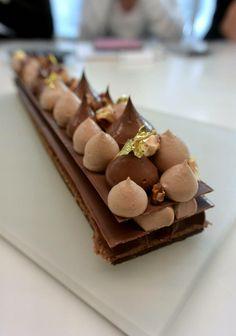 """""""Tarte caraïbe"""" réalisée par Yann Menguy lors du cours Autour du tout chocolat à la Michalak masterclass"""