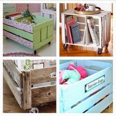 DIY: Cajas de madera (las de fruta de toda la vida) | Decorar tu casa es facilisimo.com