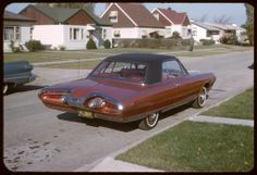 Rick Vlaha: Our Turbine car parked in front of the house. circa November 1963.