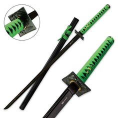 "Shinwa Black Damascus Undead Katana-40 1/2"" overall   True Swords"