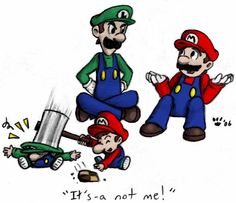 Mario, Luigi and cookie by MiyaYoshi.deviantart.com on @deviantART