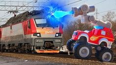Мультики Вспыш и чудо машинки маленькие Мультфильмы для детей Поезд сбил машинки