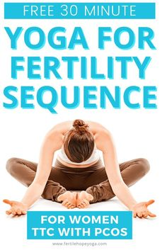 20 minute fertility yoga sequence to teach you the best fertility yoga poses to help boost your fertility when you are struggling with PCOS and can´t seem to get pregnant. Learn how to beat the stress and anxiety of infertility and find a calm place in your mind. This yoga practice is safe to try at any time during your cycle and is suitable for yoga beginners! Try it now and see the difference it makes! Fertility Yoga, Fertility Boosters, Natural Fertility, Fertility Diet, Yoga For Pcos, 30 Minute Yoga, Trying To Conceive, Yoga For Beginners, Stress And Anxiety