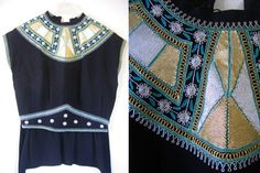 My mother had a great collection of gowns. Many were created at Esther Zeitz, a Jerusalem house of fashion that employed a team of Yemenite seamstresses that sat, day in and day out, stitching threads of silver and gold onto splendid garments. Who needed jewels when you had something like this bedecking your neck...?