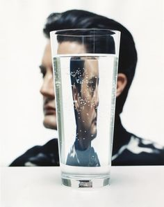 Kyle MacLachlan by John Midgley A w 2016 nowe Twin Peaks! Distortion Photography, Reflection Photography, Water Photography, Creative Photography, Portrait Photography, Fashion Photography, Kyle Maclachlan, Photo Star, Reflection Art