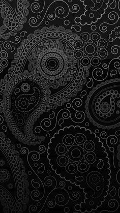 Black Paisley print