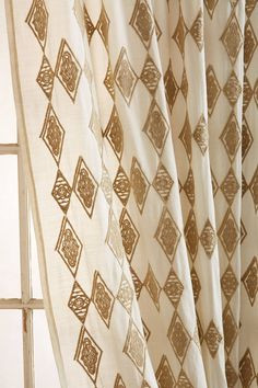 Tumbling Diamonds Curtain - anthropologie.com