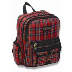 Junior Plaid Backpack