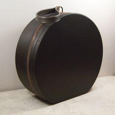 Vintage Hatbox Travel Case Dark Brown. $20.00, via Etsy.