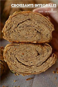 Croissants integrales con semillas fáciles – Tarthélémy Croissants, Lidl, Pan Relleno, Pain Au Levain, Bread, Cookies, Desserts, Food, Pains