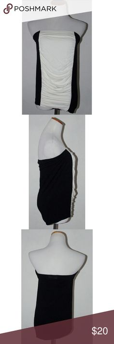 Color block strapless dress | Stitching, Maxis and Strapless dress