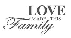 Muursticker Love made this family | Muursticker Teksten | SBling