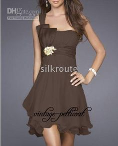 Party-dress-Evening-Cocktail-Dress-Brown-Bridesmaid-dress  possible bridesmaid dresses