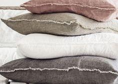 Flocca Linen Euro Pillow Case   bedlinen   est design directory   textiles