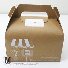 "10 Kraft Brown paper gift box with handle_6""x3"" wedding party favour boxes good for handmade gift packing soap muffin cookies cake"