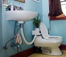 """""""Greywater"""" is water that comes from your sink, shower, bathtub or washing machine. It's not drinkable, but it's still usable. You can water plants with it, or even install a """"greywater system"""" to filter and reuse the water in your toilet tank."""