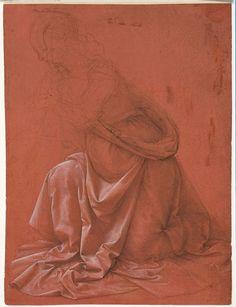 Leonardo da Vinci, study of a drapery, metalpoint, Istituto Nazionale per la Grafica, Rome.