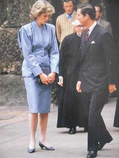 April 22, 1985 - Prince Charles & Princess Diana in Milan, Italy during the Royal Tour of Italy