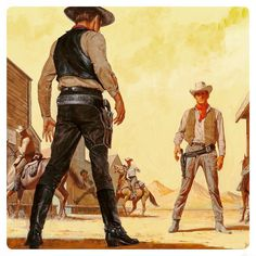 Gunfight At The Ok At The Ok Corral. Art by John Duillo by pulpster