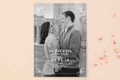 """Ornate Monogram"" - Full-Bleed Photo, Monogrammed Save The Date Cards in Faux Gold by Kristen Smith."