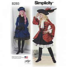 Simplicity Ladies Sewing Pattern 8285 Jacket & Skirt Costumes | Sewing | Patterns | Minerva Crafts