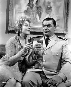 (Ernest Borgnine) with Jean Willes, MCHALE'S NAVY (1964). Mchale's Navy, Ernest Borgnine, Hale Navy, Old Tv Shows, Universal Pictures, Do You Remember, Movie Stars, Tv Series, Film