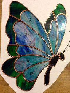 #39.       Made-to-Order Butterfly Stained Glass Sun Catcher on The CraftStar @TheCraftStar #uniquegifts #StainedGlassButterfly