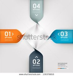 Modern spiral infographics options banner. Vector illustration. can be used for workflow layout, diagram, number options, web design. by gra...