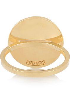 Jennifer Meyer - Letter 18-karat Gold Diamond Ring - H 6