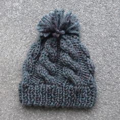 Ravelry: Cliff Cable Hat pattern by Esther Kate knit hat Cliff Cable Hat Beanie Knitting Patterns Free, Hand Knitting, Crochet Patterns, Knitting Hats, Baby Patterns, Knitting Room, Crochet Cable, Cable Knit Hat, Cable Knitting