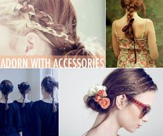 Summer Hair Braid Trends . I love when your braid is simple enough that you can add flowers without having it look over done.  I  so love braids !!