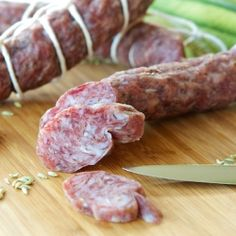 "Homemade Fennel Salami, yet another fabulous recipe from Ruhlman's ""Charcuterie"""