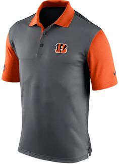 Show off your Cincinnati Bengals pride with this Nike NFL Preseason polo. This polo features an embroidered logo at the front and incorporates your favorite team's colors for added style. Polo collar Pullover style