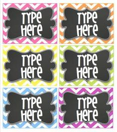 EDITABLE POLKA DOT TAGS- BRIGHT POLKA DOT WITH CHALKBOARD- 6 CLASSROOM TAGS - TeachersPayTeachers.com