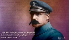 Józef Piłsudski... Stare zdjęcia w kolorze: Tak patrze na to wszystko i..........