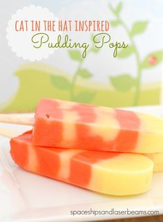 Kid's Party Food Cat in the Hat Pudding Pops