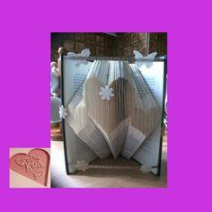 Book Folding Pattern  3 Hearts  200 Folds  Instant by CraftyHana