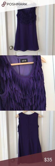 Fab'rik Purple Fringe Dress NWOT Size S Took the tag off but never wore it. fab'rik Dresses