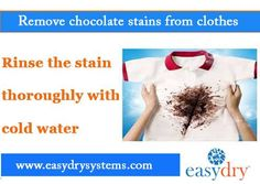 How to remove chocolate stains?