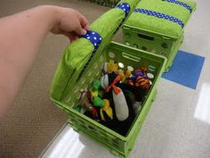 Milk Crate Seat and Storage, really cute and great for my son's playroom, or any room!!