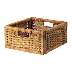 BRANÄS  Ikea Basket, rattan  $9.99  undefined - undefined Valid while supplies last in participating US stores only.  Price per  :  IKEA FAMILY  The price reflects selected options  Article Number:   201.384.31  Cabinet number::   Handwoven; each basket is unique. Handles make it easy to pull out and lift the box.