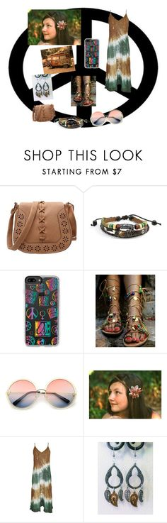 """""""Hippie"""" by annik-hartung ❤ liked on Polyvore featuring Bling Jewelry, Casetify and ZeroUV"""
