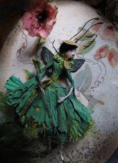 """""""Spring paper Fairy"""", Fée de printemps en papier, by Miss Clara (2014)"""