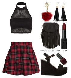 """""""Dancing in the Dark"""" by meaganmuffins ❤ liked on Polyvore featuring Boohoo, H&M, NARS Cosmetics, ALDO, Nly Shoes, OPI and Michael Kors"""