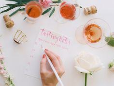 How To Host A Rosé + Flower Arranging Party | theglitterguide.com
